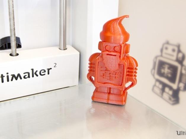 圣诞老人 机器人 3D打印模型渲染图