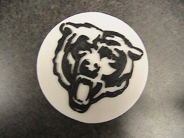 芝加哥熊 标志 3D打印模型渲染图
