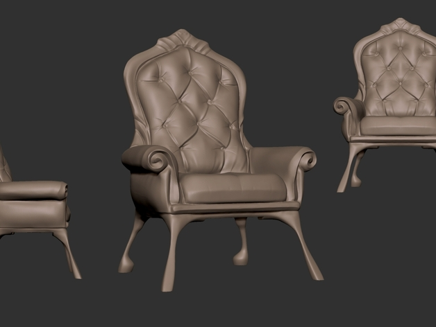 沙发椅 3D打印模型渲染图
