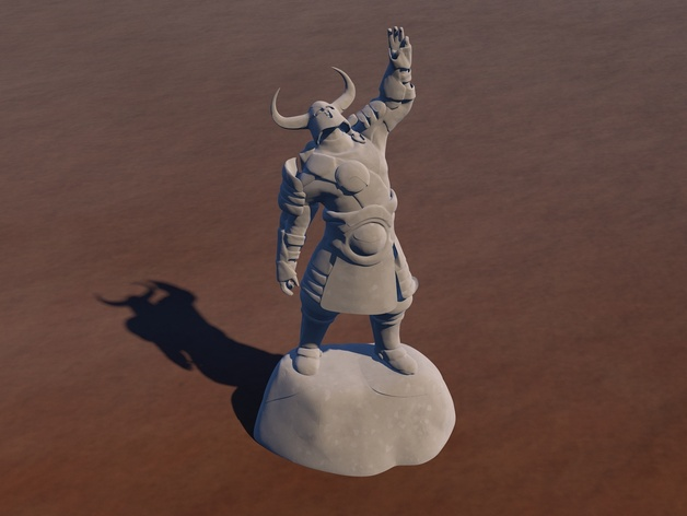 游戏《激战(GuildWars2)》人物 3D打印模型渲染图