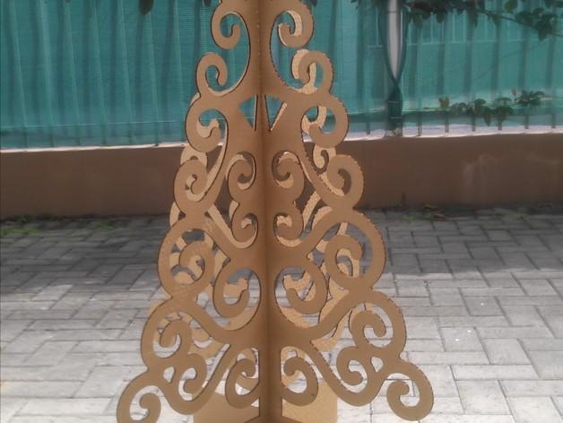 激光切割圣诞树 3D打印模型渲染图