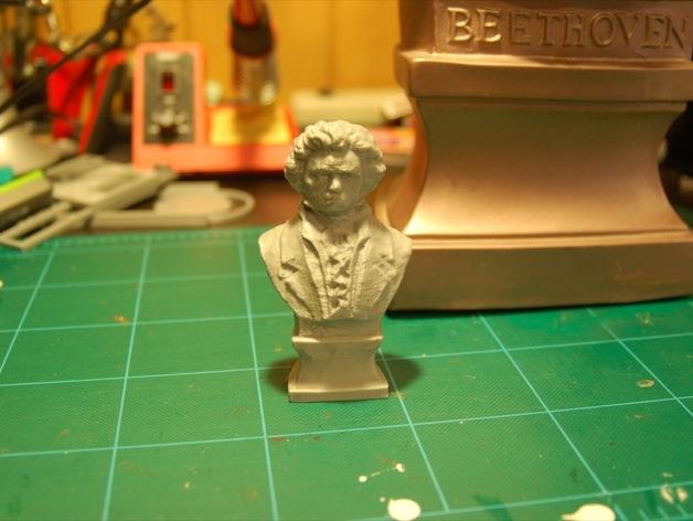 贝多芬 头像 3D打印模型渲染图