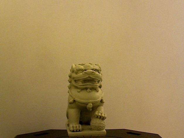 中国石狮子 3D打印模型渲染图