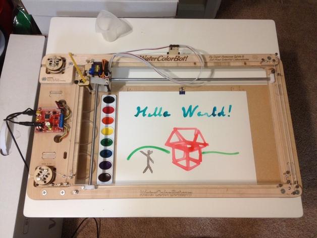 手工绘画机器 WaterColorBot 3D打印模型渲染图