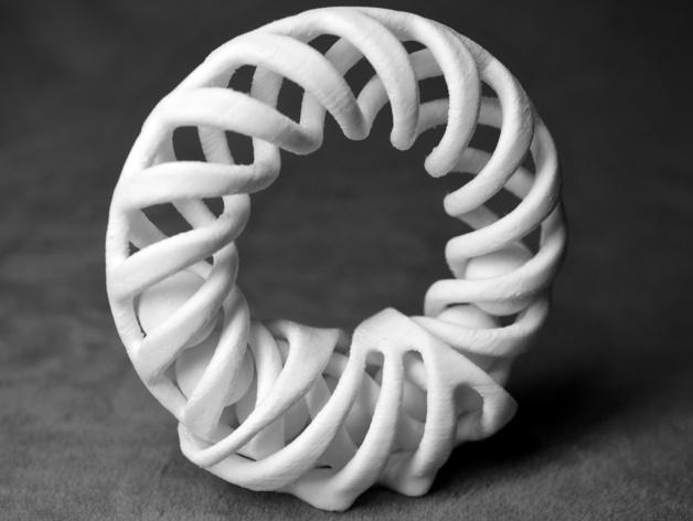 螺旋圆环 支架 3D打印模型渲染图