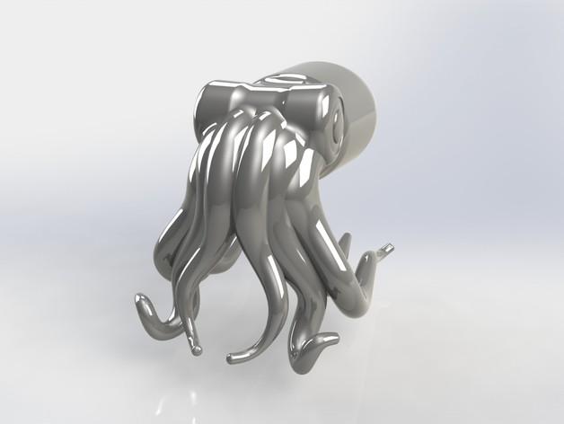 生命之光 -- 章鱼3号 3D打印模型渲染图