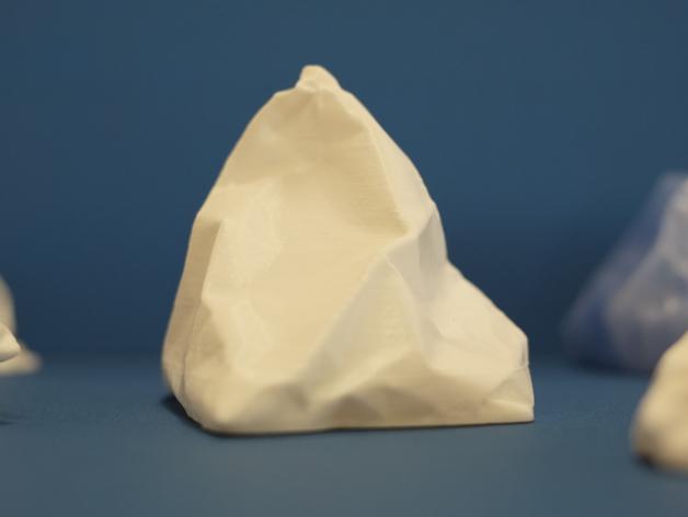 冰山 3D打印模型渲染图