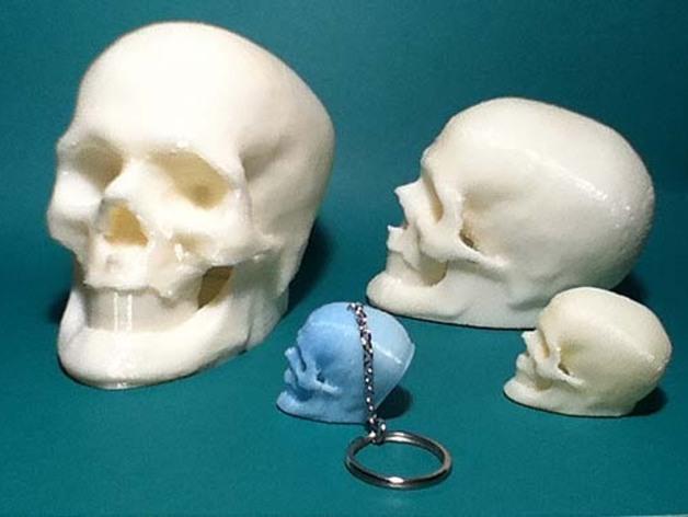 骷髅头 钥匙扣 3D打印模型渲染图