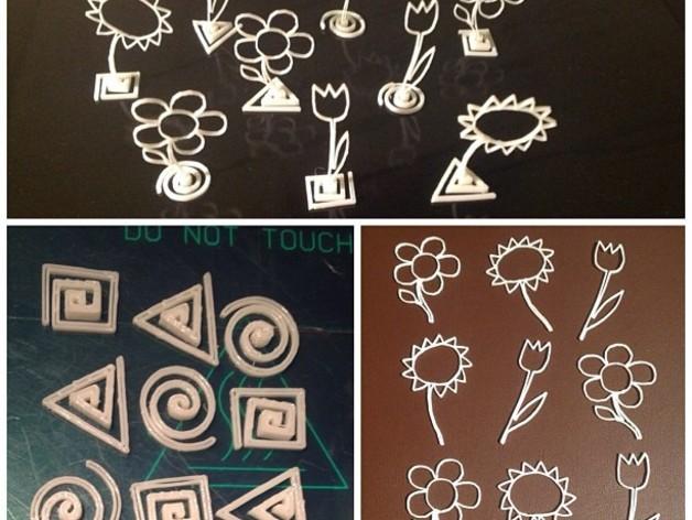 小花  3D打印模型渲染图