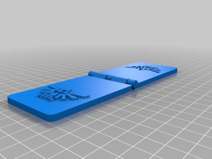 《塞尔达传说》王室标志 浮雕 3D打印模型渲染图