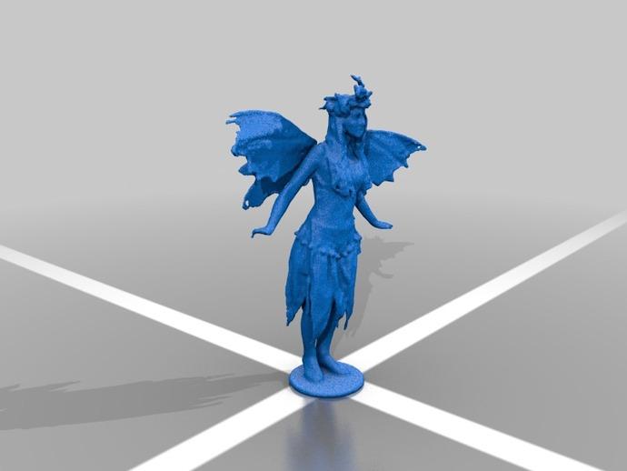 仙女 3D打印模型渲染图