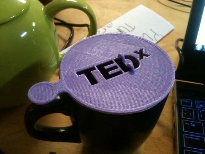 TEDx咖啡漏字板 3D打印模型渲染图