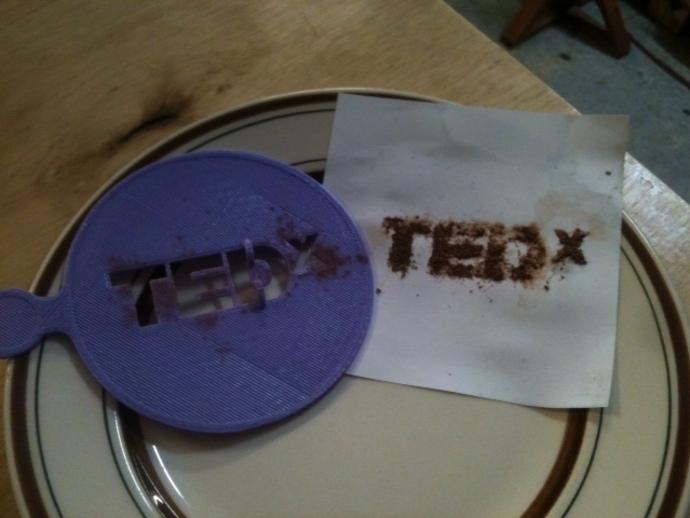 TEDx咖啡漏字板