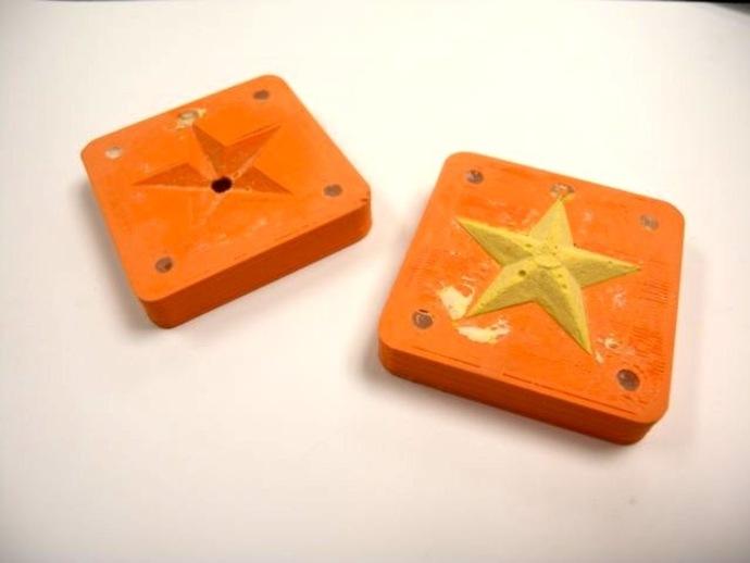 星星 模具 3D打印模型渲染图