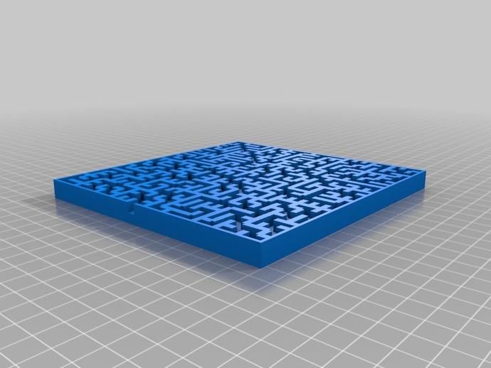 定制化迷宫 3D打印模型渲染图
