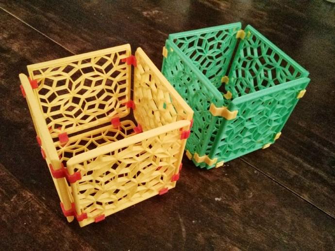 彭罗斯点阵 篮子 3D打印模型渲染图