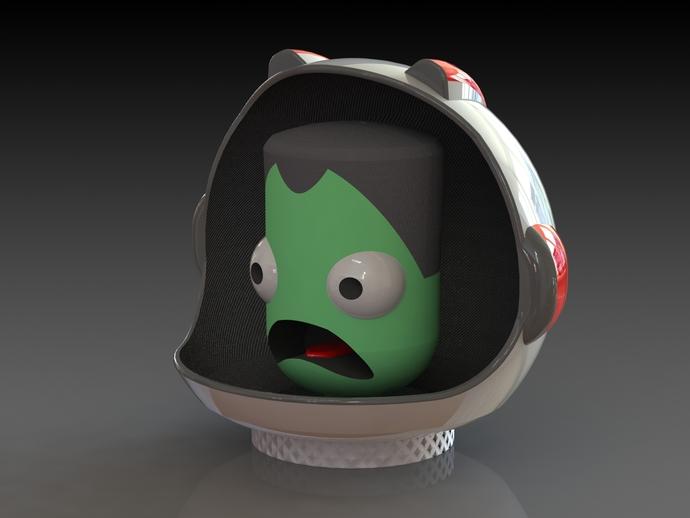 游戏《坎巴拉太空计划》玩偶 3D打印模型渲染图