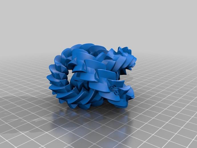 三联齿轮  3D打印模型渲染图
