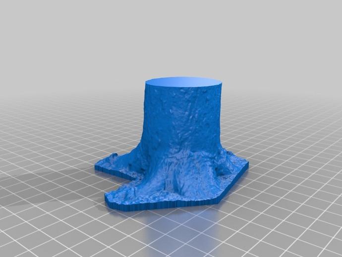 树桩 3D打印模型渲染图