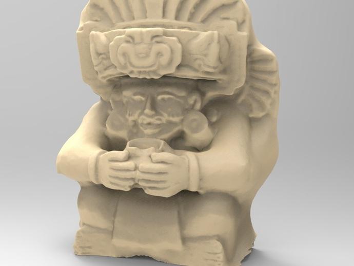 观赏陶瓷翁的萨波特克人 3D打印模型渲染图