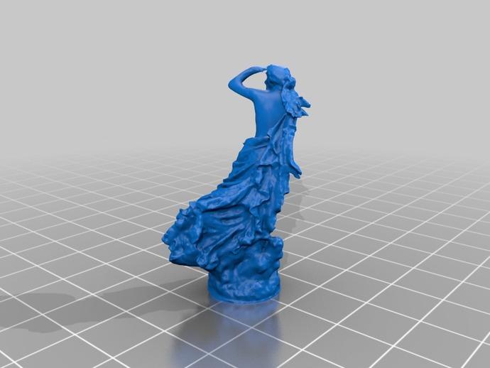 迷失的仙女 雕塑 3D打印模型渲染图