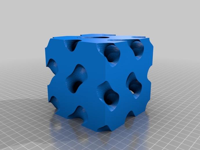 螺旋六面体 3D打印模型渲染图