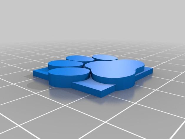 小爪印 3D打印模型渲染图