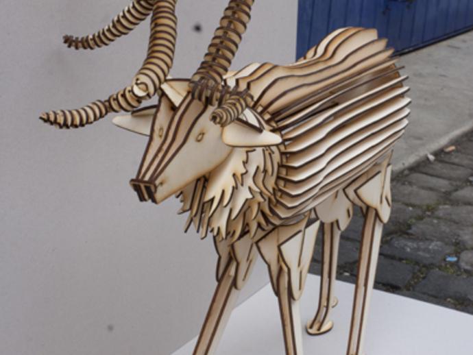 公鹿 3D打印模型渲染图