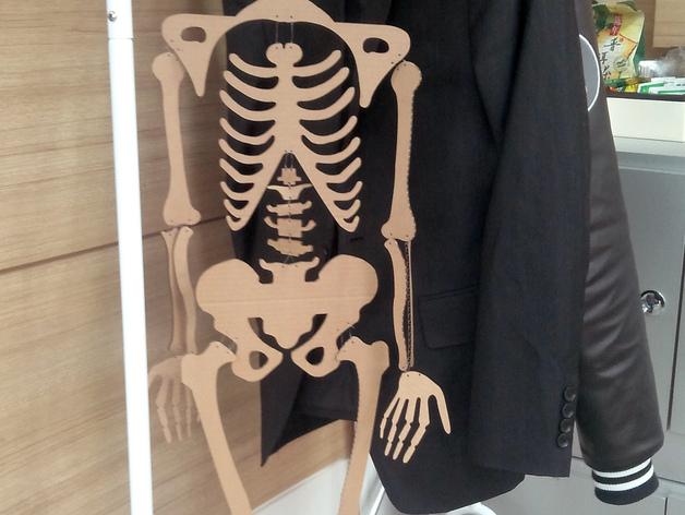 骨架 3D打印模型渲染图