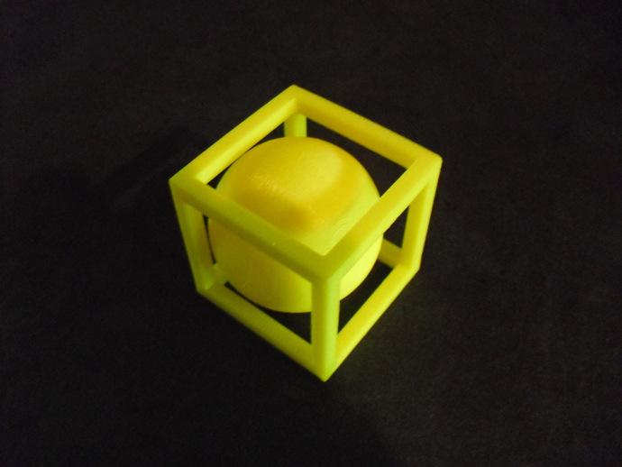 立方体 小球