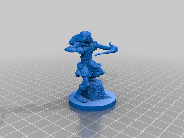 女弓箭手 3D打印模型渲染图