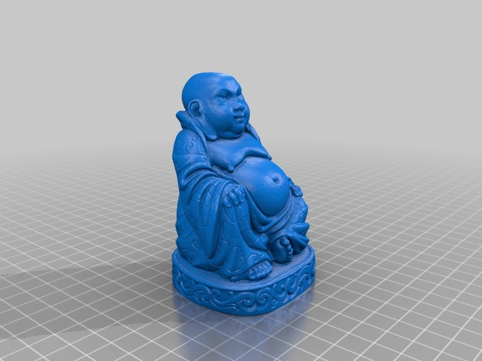 佛像 3D打印模型渲染图