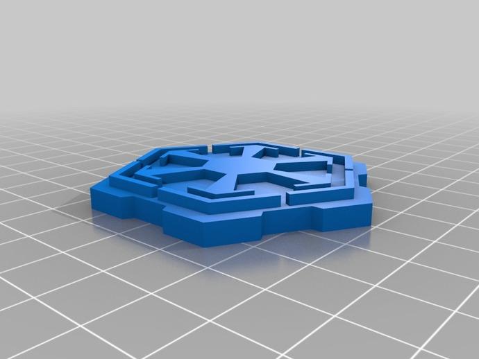 《星球大战》西斯标志 3D打印模型渲染图