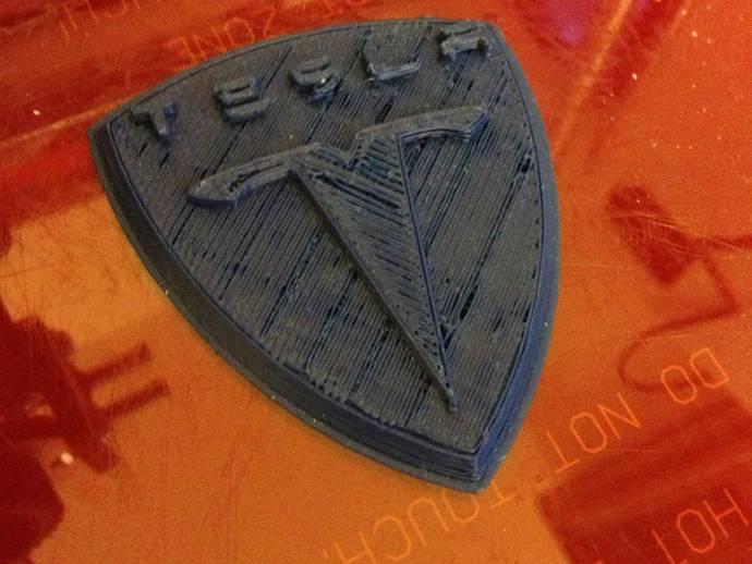 特斯拉汽车 标志 3D打印模型渲染图