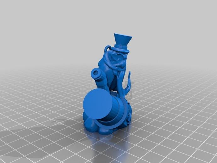 蒸汽朋克老鹰 装饰品 3D打印模型渲染图