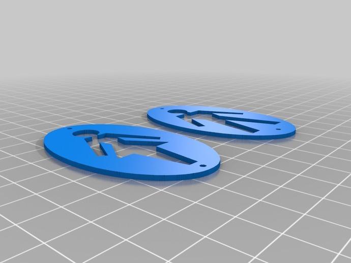 厕所 标志 3D打印模型渲染图