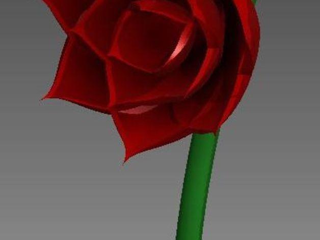 玫瑰花 花朵 3D打印模型渲染图