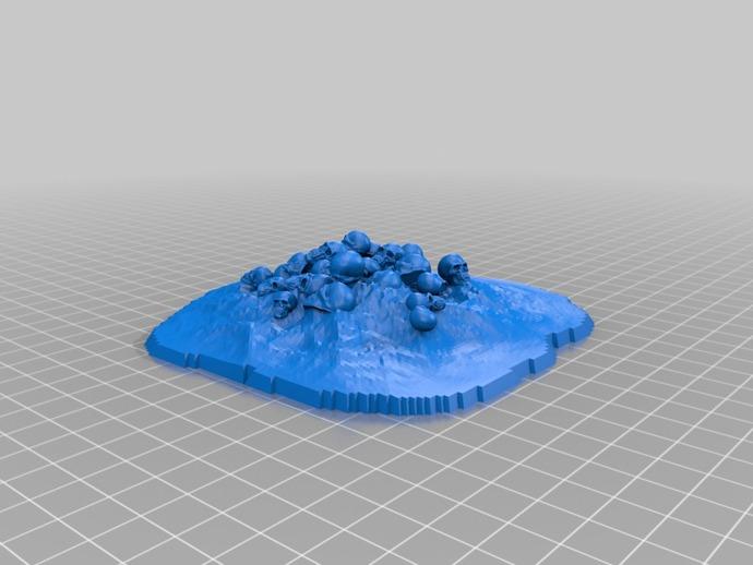 骷髅堆 万圣节装饰 3D打印模型渲染图