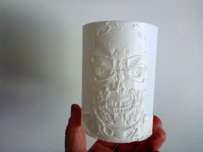 终结者透光浮雕 3D打印模型渲染图