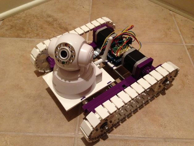 无线摄像头 3D打印模型渲染图