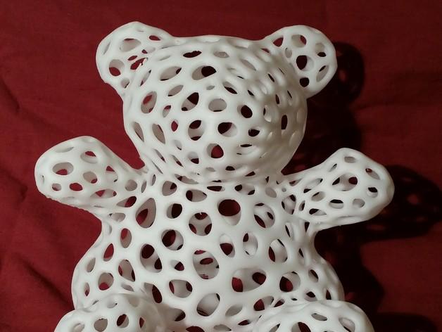 白色的泰迪熊 3D打印实物照片