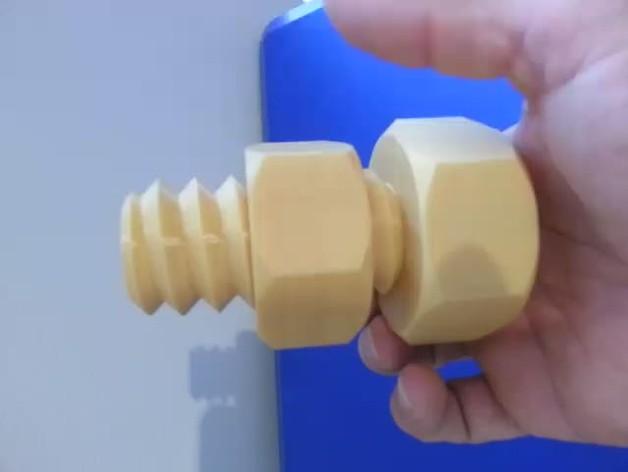 大型 螺帽 螺钉 3D打印图片