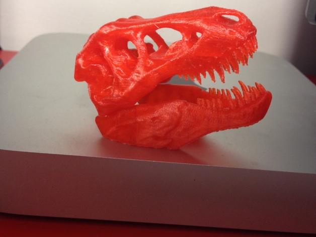 红色的 霸王龙 骨架 3D打印图片