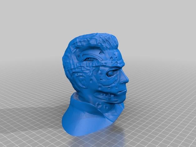 终结者阿诺德T800 3D打印模型渲染图