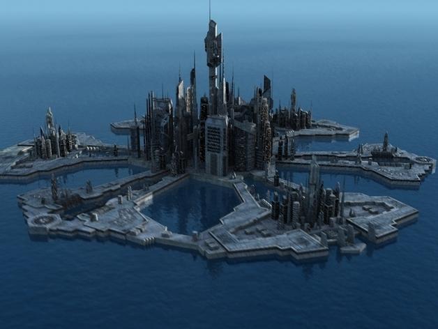 星际之门亚特兰蒂斯城(俗称A城) 3D打印模型渲染图