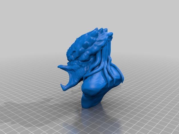 铁血战士 3D打印模型渲染图