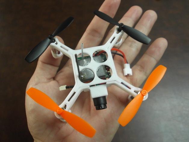 4轴迷你无人机 3D打印模型渲染图