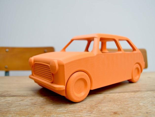 玩具小车 3D打印模型渲染图