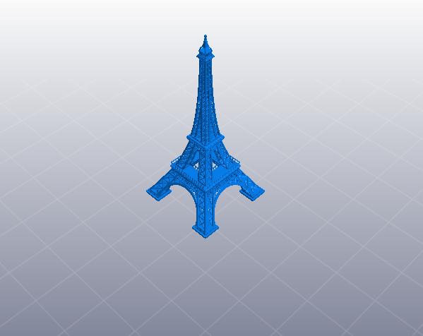 法国巴黎埃菲尔铁塔 3D打印模型渲染图