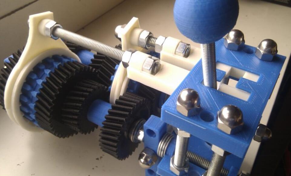 四速变速与H移位变速箱 3D打印模型渲染图
